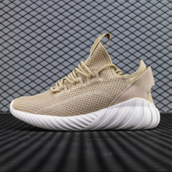 the latest 9f55f 1e28f Adidas Tubular Doom Sock Khaki and White sneakers NWT